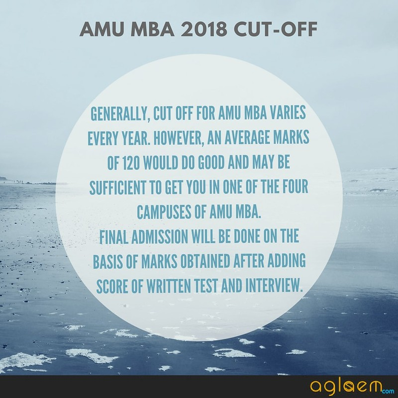 AMU MBA 2018 Cut Off
