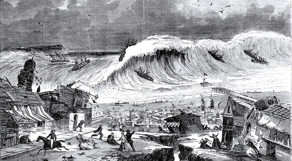 Землетрясение и цунами в Арекипе, Перу, 1868 год.