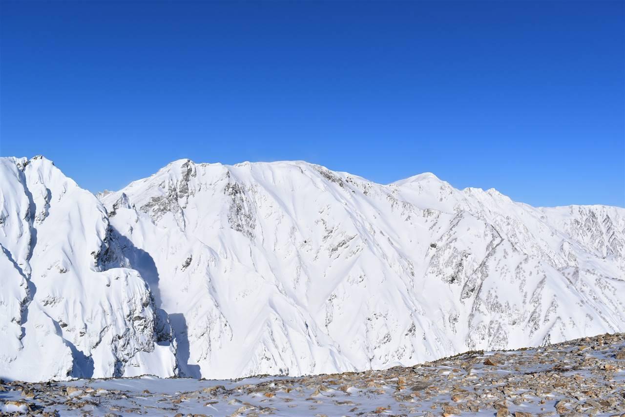 雪の北アルプス白馬岳
