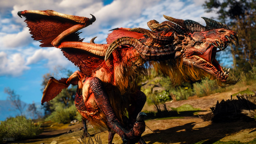 the witcher 3 wild hunt angry dragon screenshots of the flickr