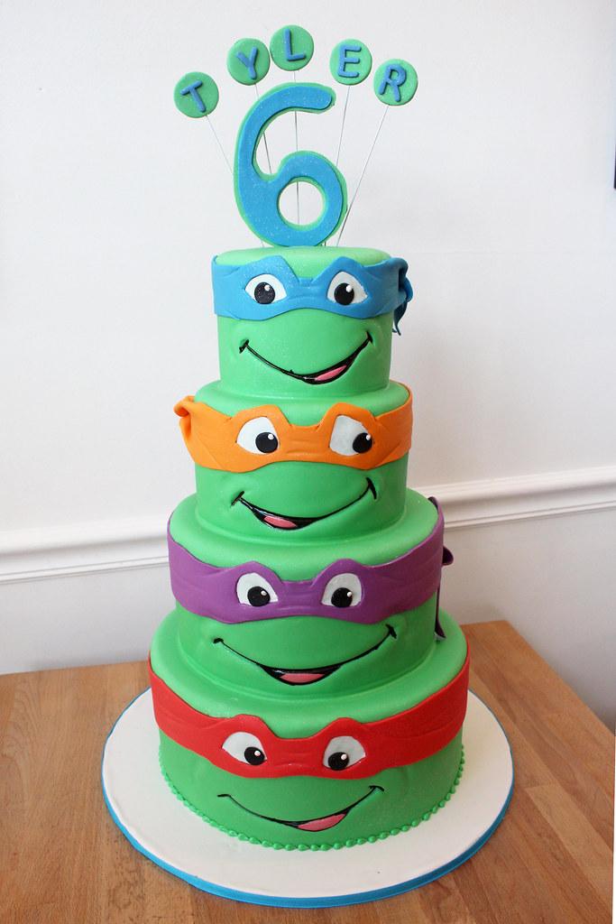 Ninja Turtles Birthday Cake Oakleaf Cakes Flickr