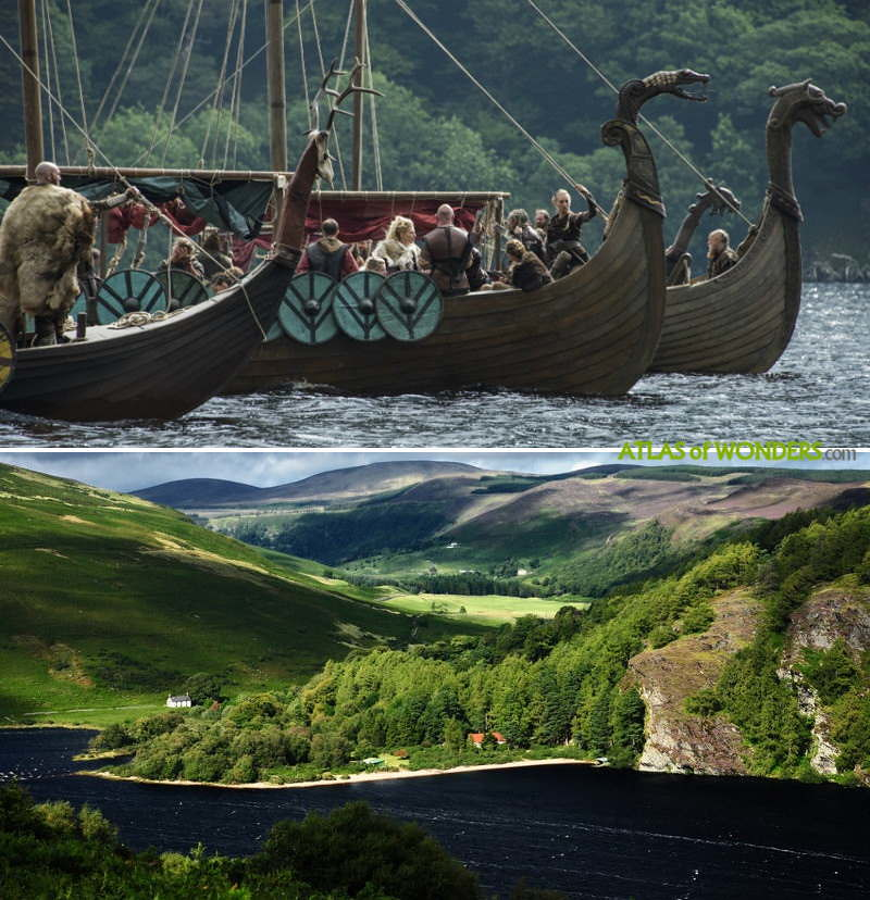 Viking longships shoot
