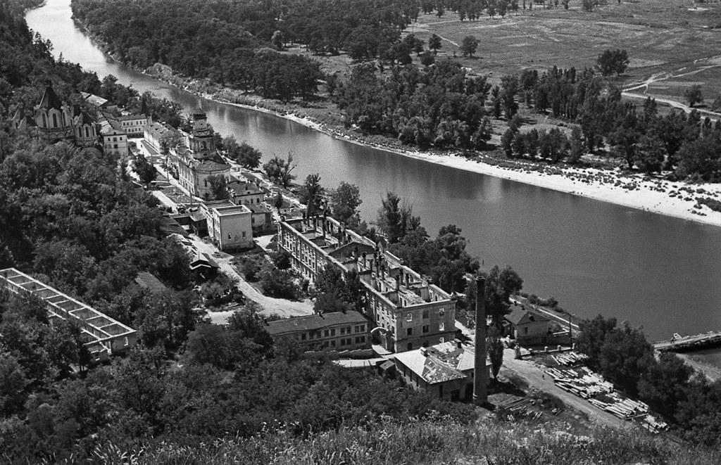 Святогорск. Берега реки Донец. Свято-Успенская Святогорская Лавра. 1947г.