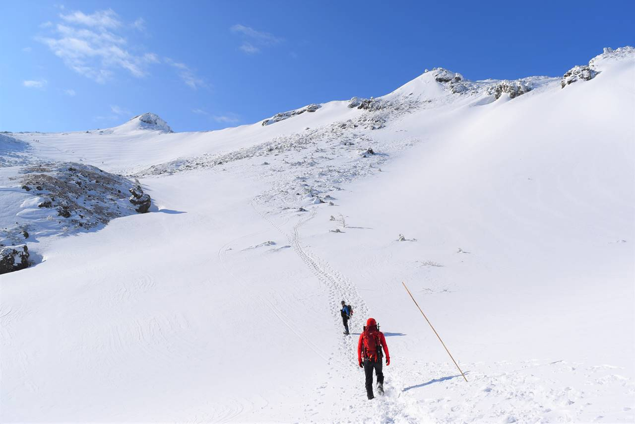 冬の安達太良山 雪山登山