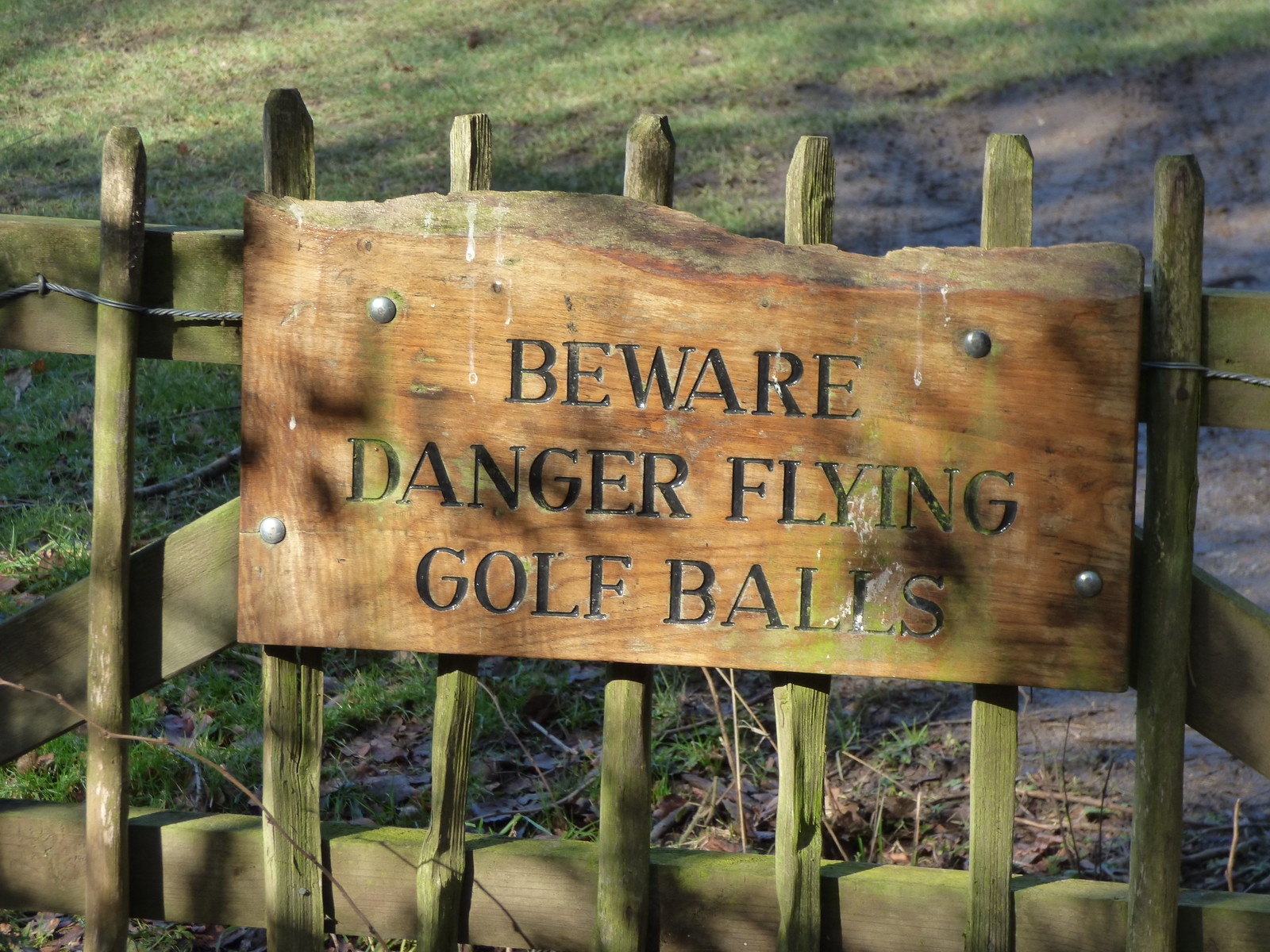 Halesowen Golf Club - Leasowes Park - sign - Beware Danger Flying Golf Balls | by ell brown
