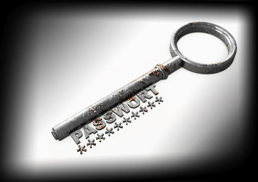 Passwort Password Schlüssel Key - schwarzer Rahmen | Flickr