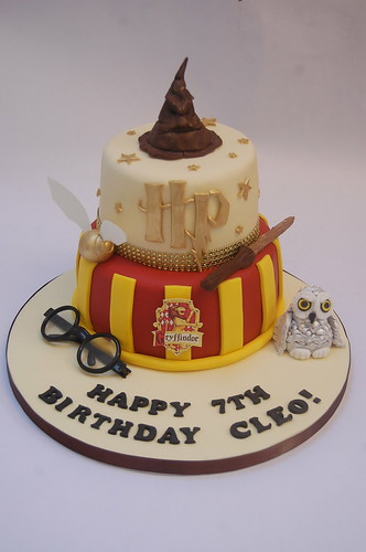Twotiered Harry Potter Cake Beautiful Birthday Cakes