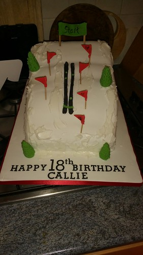 Ski slope themed birthday cake | by platypus1974