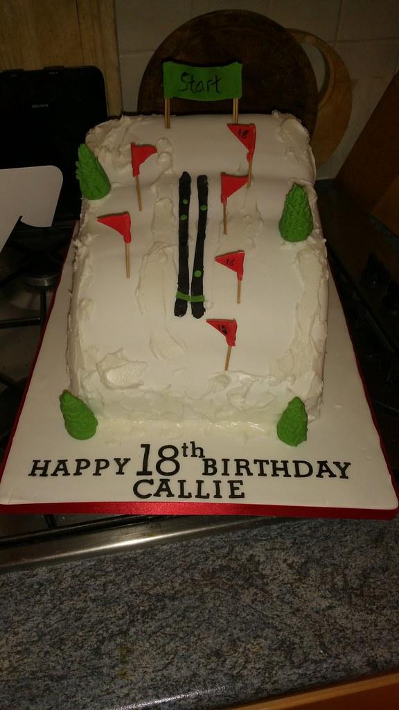 Ski Slope Themed Birthday Cake Platypus1974 Flickr