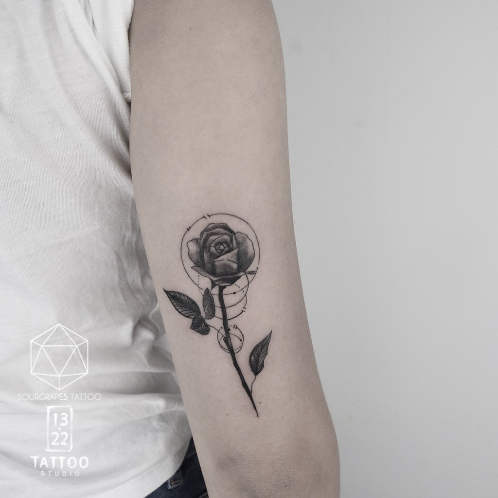 Single Rose Tattoo 61 Small Rose Tattoos Designs For Men And Women