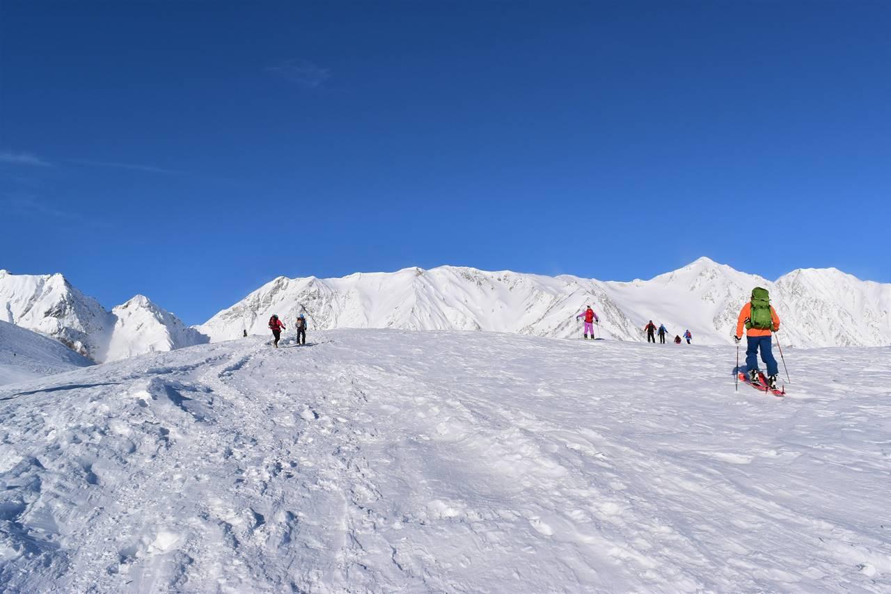 冬の唐松岳 雪山登山