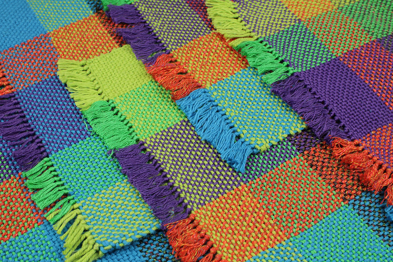 colourful woven cotton placemats