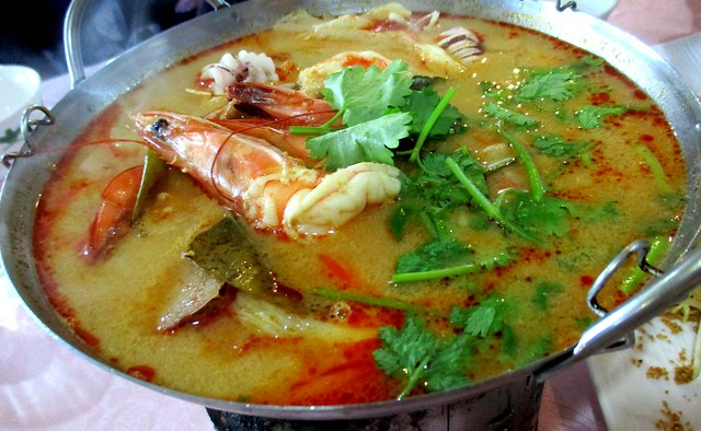 Flavours Thai Kitchen creamy seafood tom yam