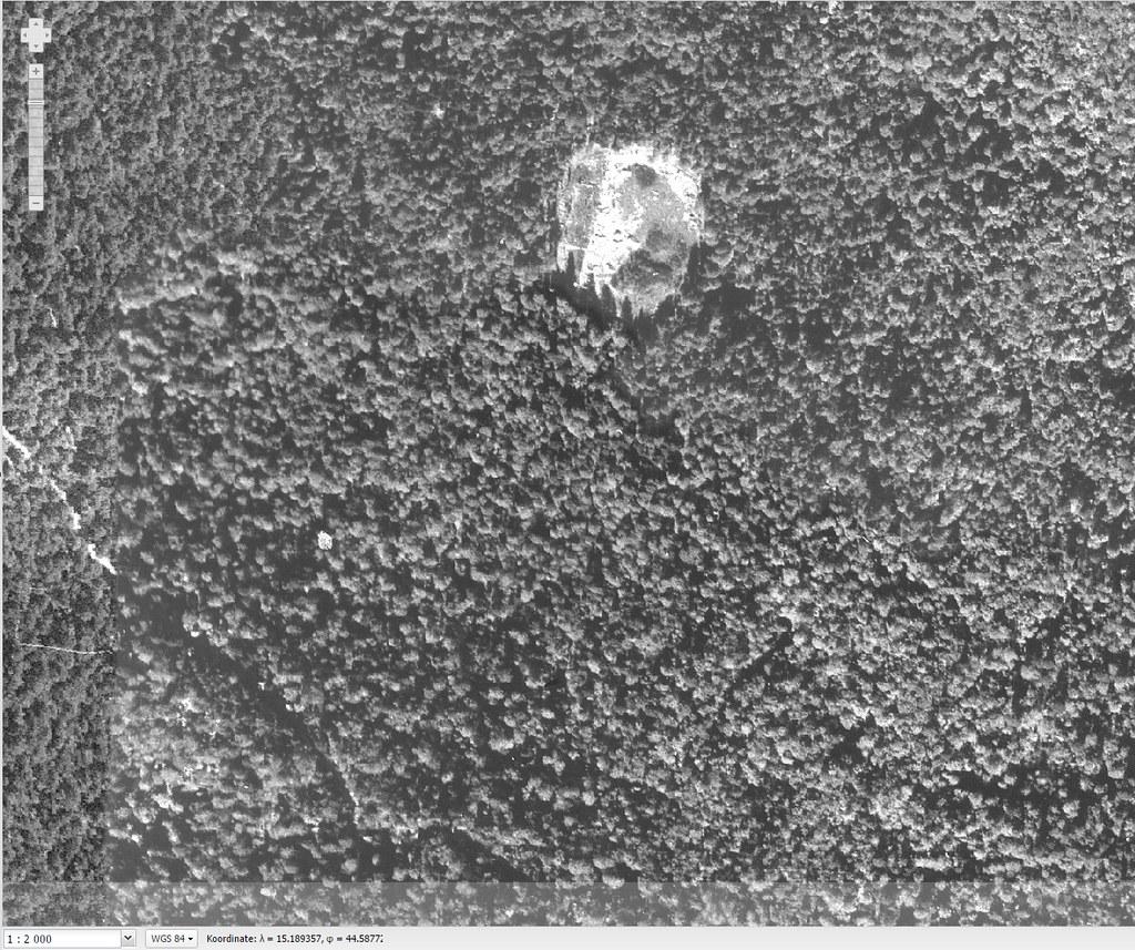 Lokacija logora Jadovno, fotografija iz 1968.