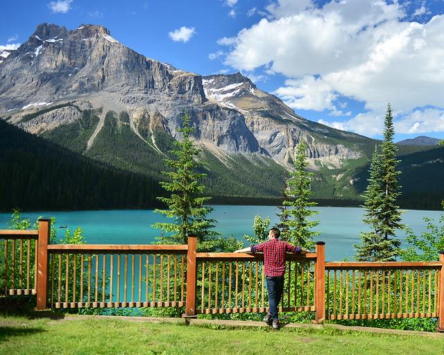 Una de las postales del viaje, en el lago Emerald de Canadá