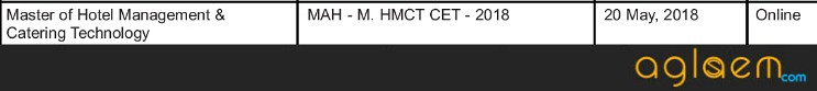 MAH MHMCT CET 2018 Exam Date (Released)  Check Exam Pattern, Syllabus
