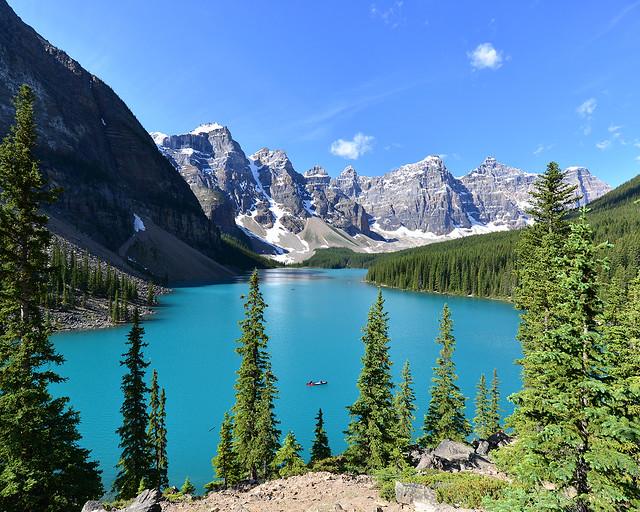 Lago Moraine, uno de los lugares más bonitos que ver en Canada