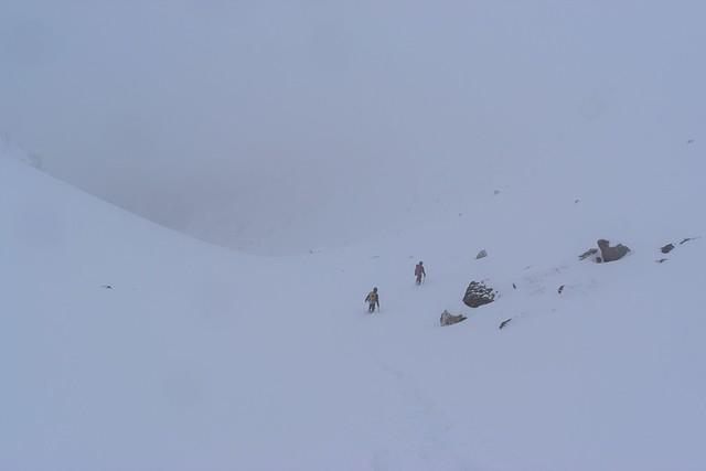 焼岳から下山