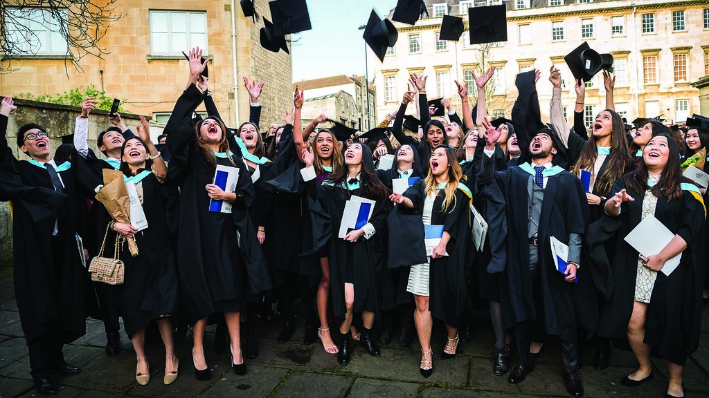 Bath students graduating as part of the Winter Graduation Ceremonies 2017