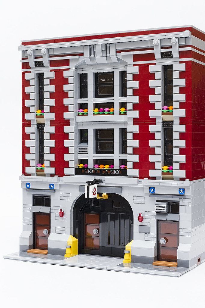 Mod Modular Ized Ghostbusters Firehouse Headquarters Lego Town
