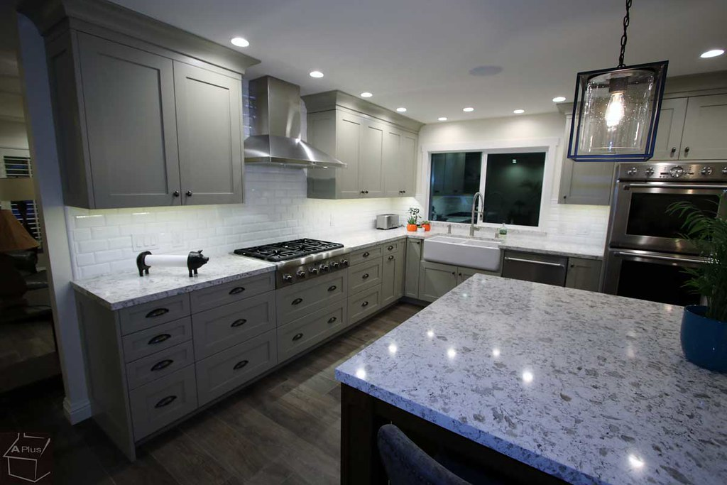 ... Kitchen Remodel With Custom Color Cabinets And Entertainment Center In  The City Of Huntington Beach,