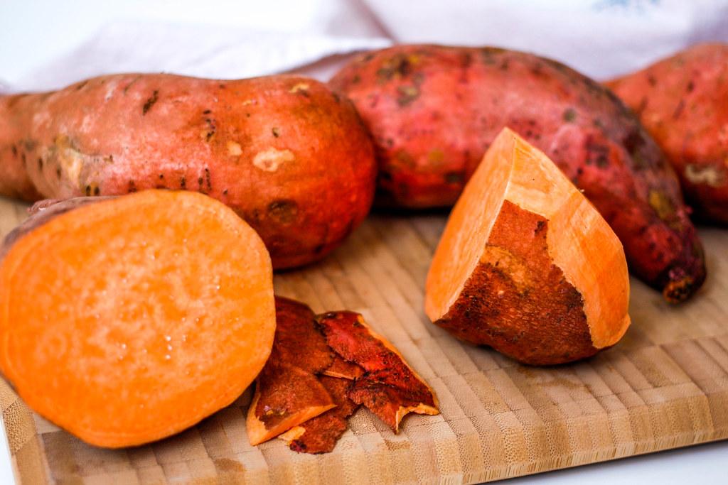 Sweet Potatoes In Vitamix As Food Processor