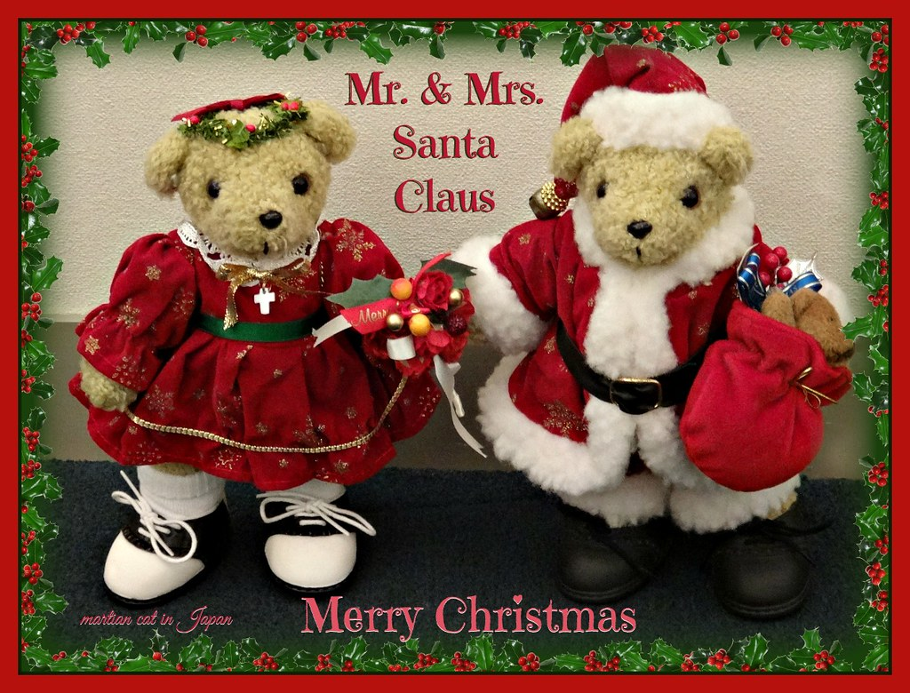 Merry Christmas These Bears Names Are Mr And Mrs Sant Flickr