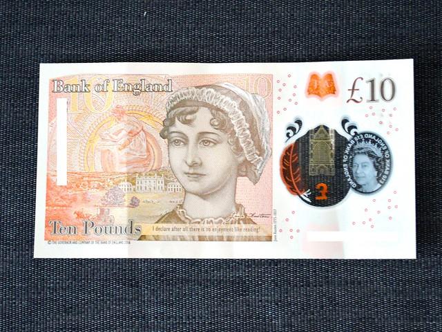 Jane Austen 10 GBP Bill