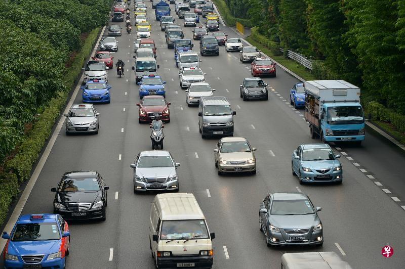 新加坡公路。圖片來源:新加坡《聯合早報》