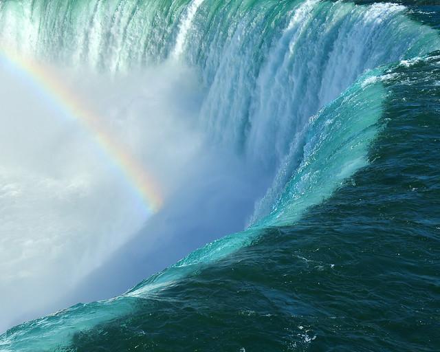 Arcoiris en las cataratas del Niágara