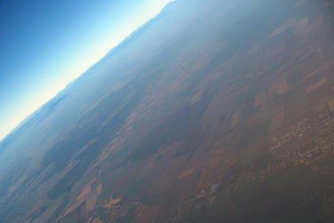VCSE - Körmend környéke. Ez, és a többi ballonról készült kép is képkivágás eredménye.