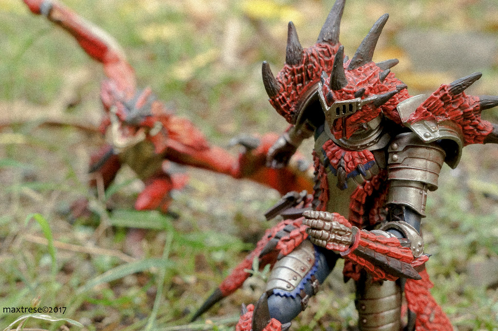Revoltech Rathalos Liolaeus and Hunter of Monster Hunter