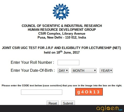 CSIR NET Result 2018 (June)   Check Cutoff Marks, JRF Rank