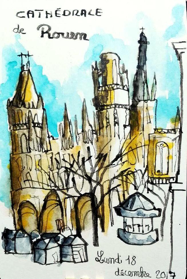 La cathédrale de Rouen et son marché de Noël. | cecile_halbert ...
