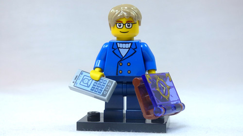 Brick Yourself Custom Lego Figure Smartly Dressed Boy with Fantasy Book & Phone | by BrickManDan