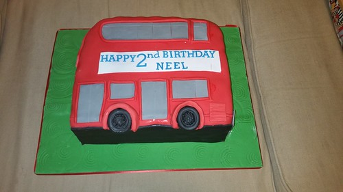 2d shaped London bus cake | by platypus1974
