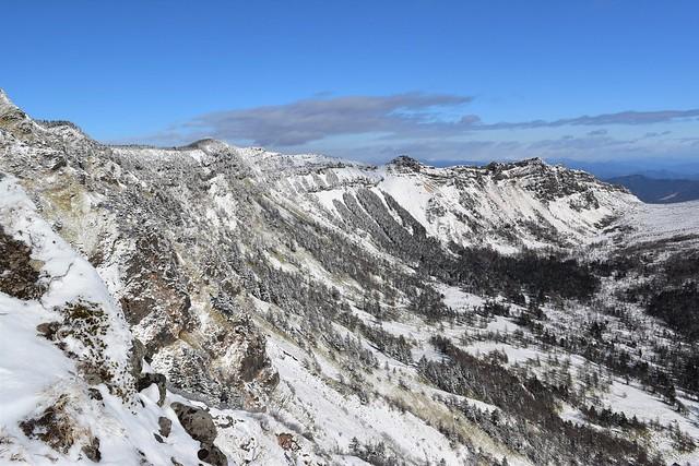 浅間山外輪の稜線