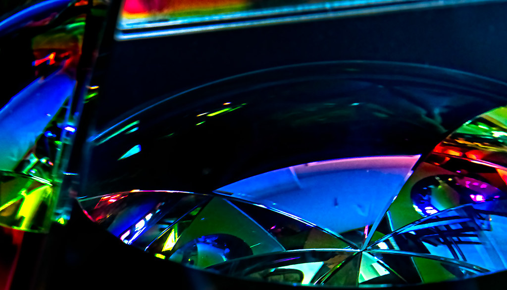 Abstract, glass prism
