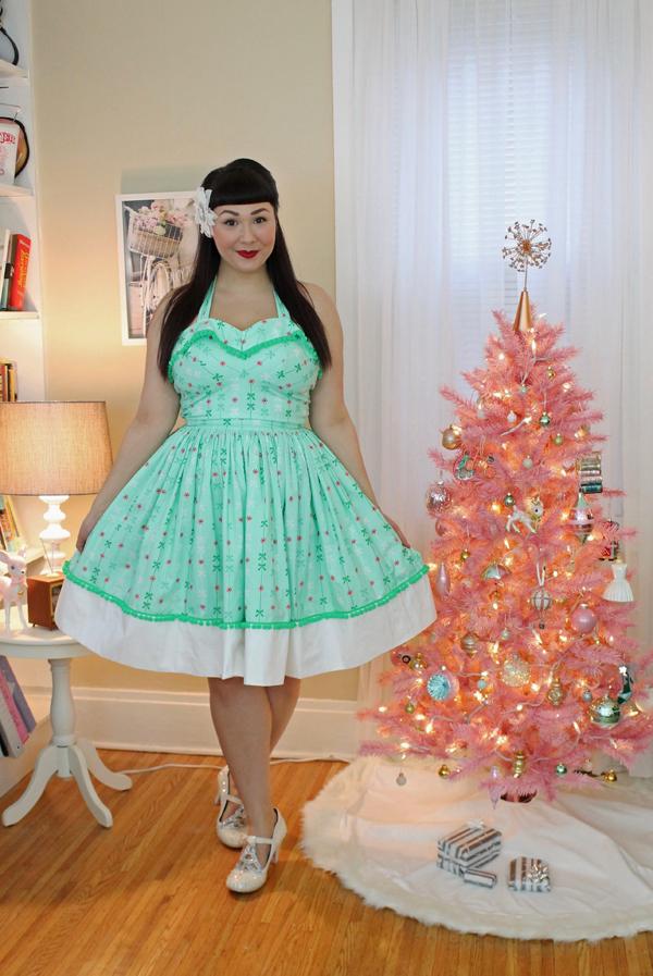 mint green christmas dress