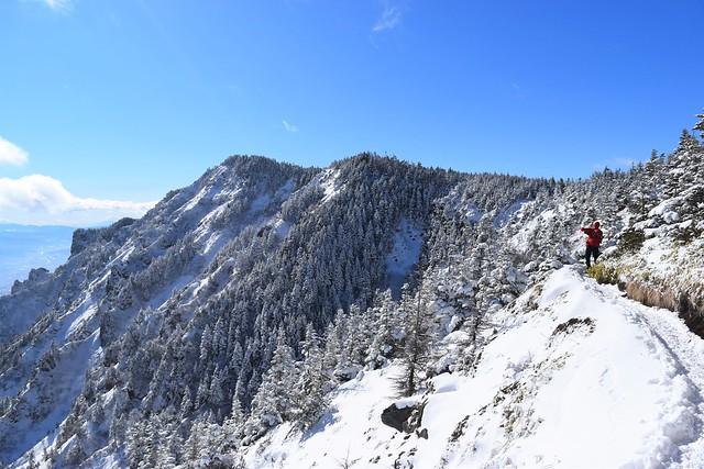 黒斑山~蛇骨岳 雪山登山
