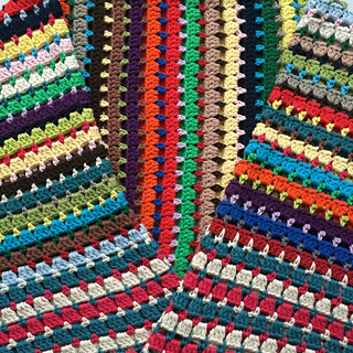 Completed Block Stitch Afghan | by Jane Dallaway