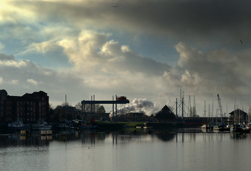 Steam and clouds over Preston Docks | by Tony Worrall