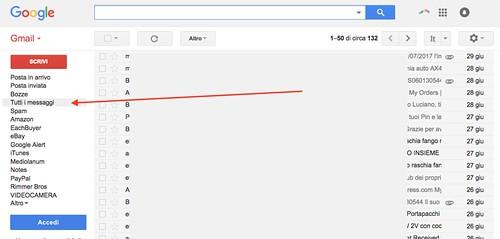 Risultato impostazione Gmail
