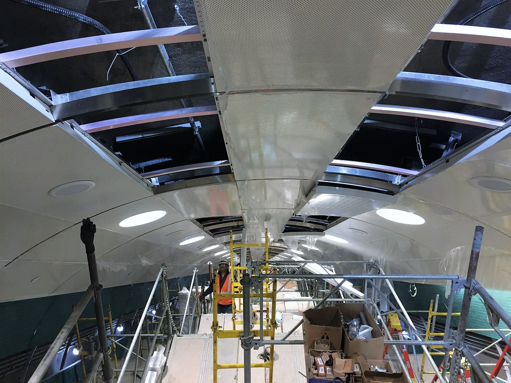 Custom Curved Ceiling Tiles At The Top Of Passenger Wellwa Flickr