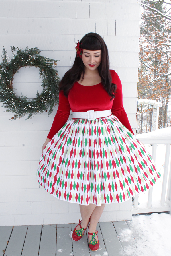 christmas dress pinup