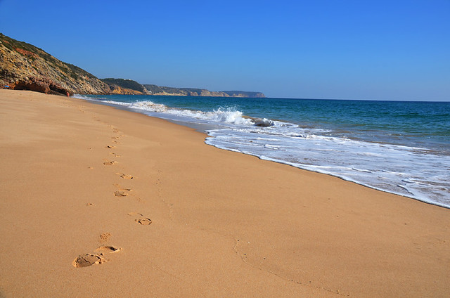 Beach walking from Figueira, Algarve