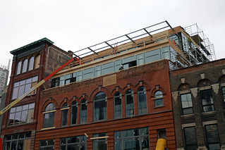 New windows on penthouse addition The Alley James St. N. (2) | by .JCM.