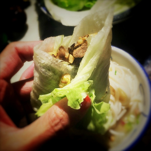 chinese, duck, Duck Bone, leftover, Lettuce Wraps, mince, recipe, Soup, 一鴨兩味, 鴨鬆, 生菜包, 鴨骨湯