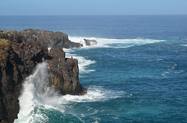 Fishermen on north coast, Tenerife