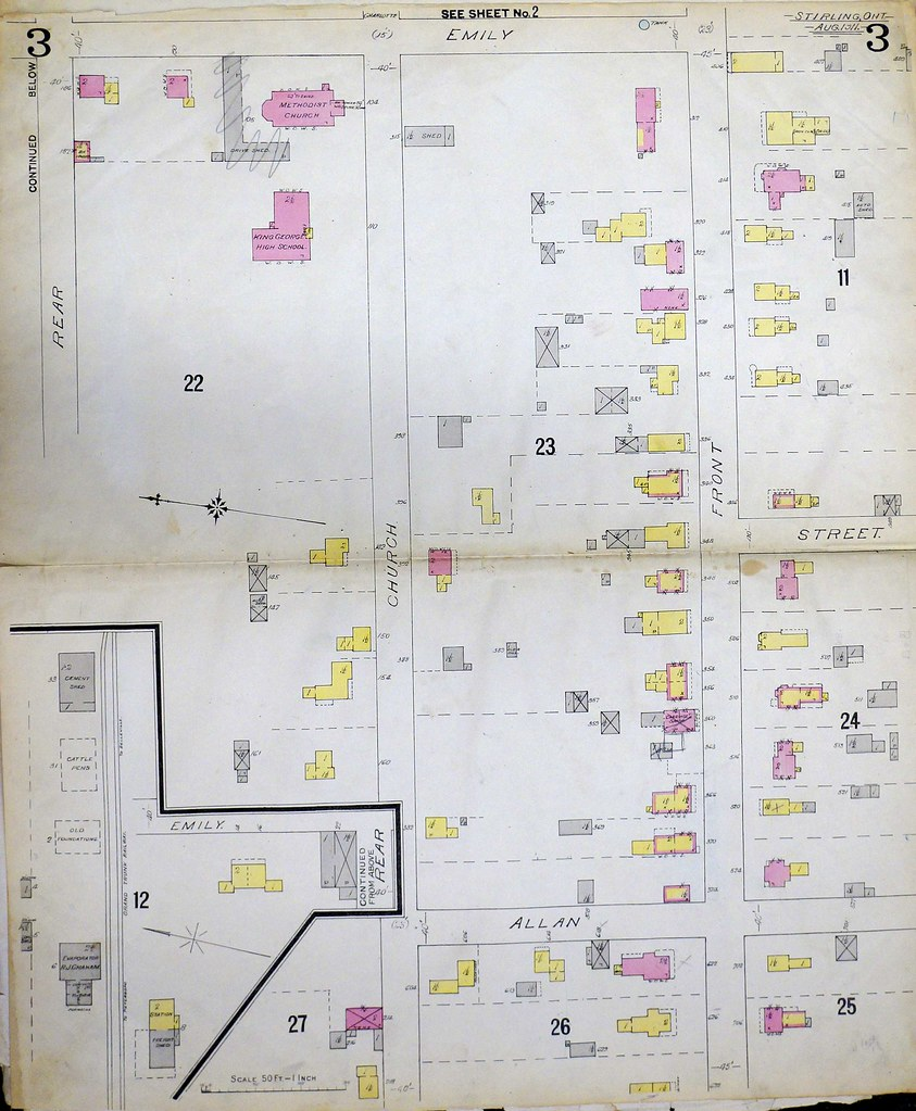 ... 1911 Stirling Fire Insurance Map page 3 - by Community Archives of Belleville & Hastings County